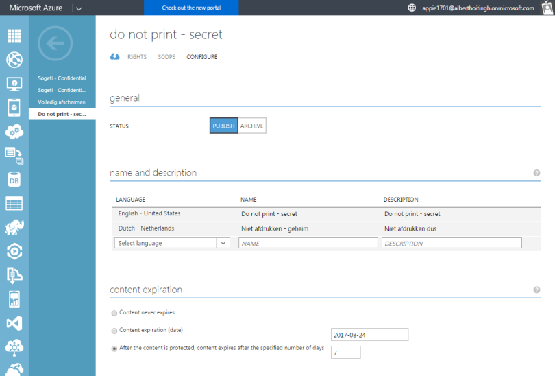 Azure Information Protection and RMS integration is here