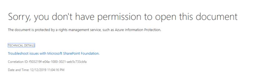 No permission