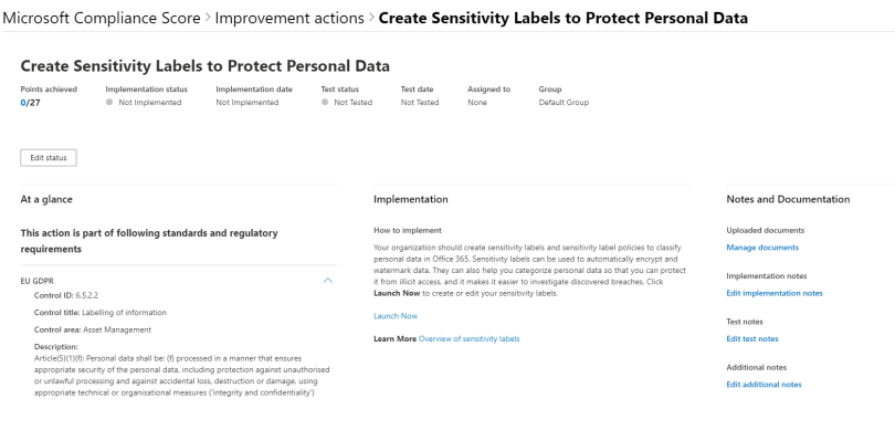 Sensitivity label advise